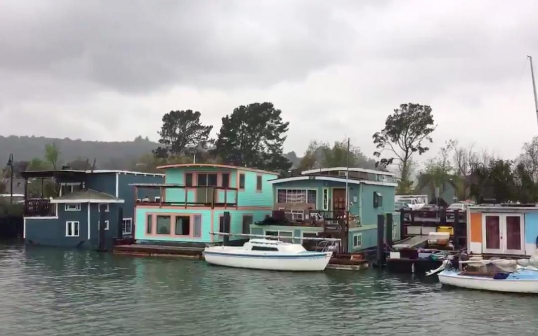 Video: bontgekleurde waterwoonwijk in San Francisco