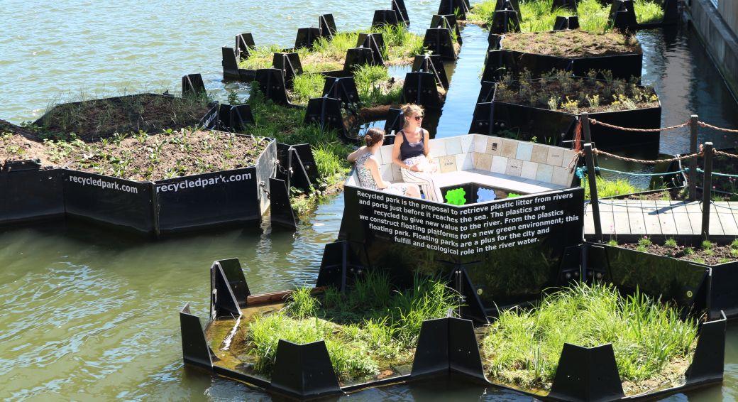 Video: in Rotterdam maken ze meerkoetparadijzen van plastic zwerfvuil